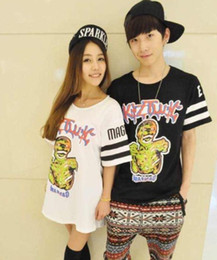 Wholesale Harajuku style Bingbang KTZ oversize zombie short sleeved T shirt Couple loose Evil Satan JAZZ Hip hop T Shirt fashion Apparel
