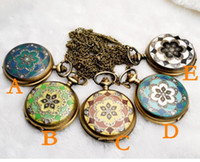 Wholesale FreeShipping High quality Vine style Large Size Drop Design Quartz Pocket amp Fob Watches Pendant Necklace