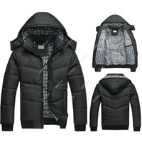 men winter jackets - S5Q Men Winter Cotton Padded Jacket Hoodie Puffer Parka Hooded Outwear Down Coat AAACQG