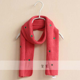 Wholesale Cashmere Scarf Kids Neckerchief Children s Accessories Cute Knitted Scarves Fashion Autumn And Winter Scarf Long Neckerchief Girls Scarves