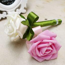 Wholesale wedding guest pens guest Wedding signature pen Wedding favors colorful silk flower ballpoint pen party favor decorations