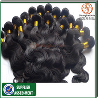 Wholesale Grade AAAAA Unprocessed Brazilian Virgin Wavy Hair Mixed Lenght quot quot Malaysian virgin Hair G Body Wave Natural Color