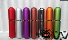 Wholesale 10PCS Fashion Refillable Empty Atomizers Travel Perfume Bottles Spray Makeup Aftershave Colorful Metal Bottle ML Free Ship