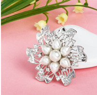 Other Women's Gift Free shipping fashion personality rhinestone pearl brooch wedding dinner will dress accessories brooches wholesale LM-B036