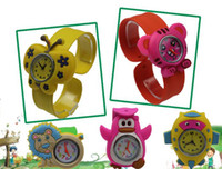 Casual Children's Water Resistant Japan Movement Silicone Kids Slap Watch For Christmas