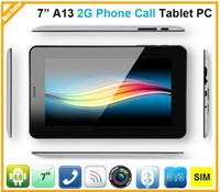 7 inch Dual Core Android 4.0 DHL Wholesale Cheap 7 Inch T14 A13 2G Phone Call Android 4.0 800*480 1.2GHz 512MB RAM 4GB ROM Tablet PC 10PCS PS-14