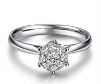 Wholesale 14k White Gold Diamond Women Ring Carat effect ct Certificed Real Natural Diamond Solid Gold Wedding Engagement Jewelry XZKR001