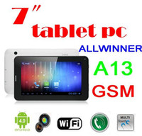 7 inch Dual Core Android 4.0 DHL Wholesale Cheap 7 Inch T14 A13 2G Phone Call Android 4.0 1.2GHz 512MB RAM 4GB ROM Tablet PC 100PCS PS-14