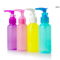 Wholesale 100ml Refillable Color Plastic Shampoo Bottle Face Cream Bottle Makeup Containers Travel Supplies DC705