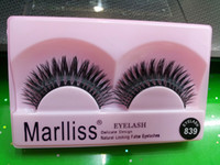 Wholesale Red Marlliss Maryse Korea handmade false eyelashes thick cross section