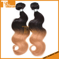 Wholesale Ombre Brazilian Hair Body Wave Two Tone Color b Brazilian Virgin Hair Weave Human Hair Extensions Cheap Hair Weft