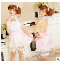 Wholesale Cospaly Sexy lingerie for woman The maid outfit design pink sets