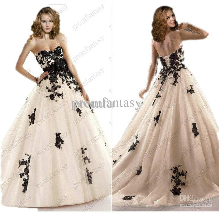 2014 gothic beaded black lace appliques corset tulle ball for Gothic corset wedding dresses