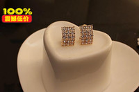 Dangle & Chandelier other China-Miao Earring3262 Korean version of the retro Rhinestone stud earrings with diamond stud earrings wholesale rectangle - square