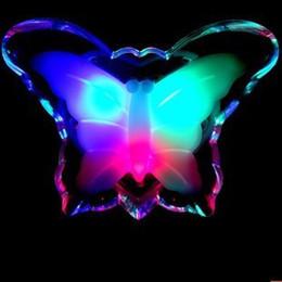 Noche de mariposa en venta-Envío gratis 1 Pieza LED de Color Cambio de Estilo de la Mariposa de Luz de Noche, Lámpara de Noche de Decoración de Regalo