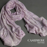 Wholesale High quality autumn and winter women s knitted print cashmere scarf cape muffler scarf bohemia purple print