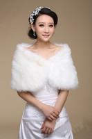 Wholesale 5pcs High Quality Luxury Faux Fur Shawl Wedding Bridal Pearl Wrap Stole Shrug Bolero Cape Poncho