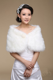 Wholesale 5pcs High Quality Luxury Faux Fur Shawl Wedding Bridal Pearl Wrap Stole Shrug Bolero Cape Poncho