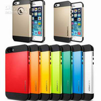 Wholesale SLIM ARMOR SPIGEN SGP Hard Case Cover for iPhone S c iphone5 S for galaxy s3 s4 note2 note3 without retail package MOQ
