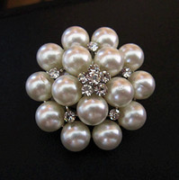 Women's asian creams - 1 Inch Rhodium Silver Plated Cream Pearl Cluster and Crystal Diamante Small Pin Brooch
