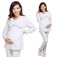 Wholesale Maternity long johns long johns plus velvet thickening cotton maternity underwear month of clothing maternity sleepwear