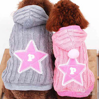 Wholesale Brand New Hot Pet dog spring winter Clothes hooded coat cat sweater sizes S M L XL