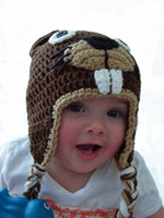 beaver brand hats - Crochet beaver hat Brand New EMS baby OWL hat crochet hat children cotton hat