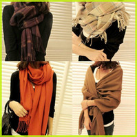 Wholesale Christmas Gifts Quality Wool Cashmere Pashmina scarf shawl Women wraps cape Scarves wraps cm plus size mixed styles MS001