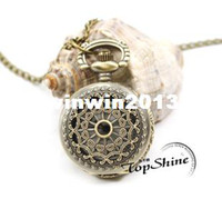Wholesale WA209 hot sale necklace chain fashion new vintage mens woman ladies Quartz Pocket Watch