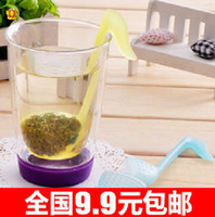 Cheap Wholesale retail novelty Music symbol spoon with Tea Strainer Note Tadpole Stirrer Spoon Infuser,filter