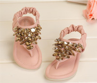 Wholesale 2013 NEW Children Girls Princess Style Sequins Sandals Rose Rhinestone Festival Child Shoes Pink Beige Summer Party Wears Sandals B2022