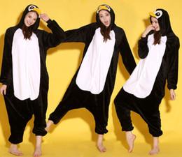 Cartoon Animal Black Penguin Adult lOnesies Onesie Pajamas Kigurumi Jumpsuit Hoodies Sleepwear For Adults Welcome Wholesale Order
