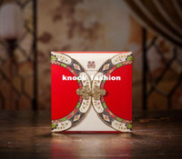 Wholesale 50Sets Pretty Wedding Invitation With Chinese Button Knot Envelopes Seals