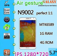 Wholesale Unlocked quot Perfect Quad Core Note MTK6589 N9000 Android4 Phone MP GHz Ram GB Rom GB cell phones inew i7000