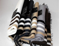 Wholesale Acrylic fabrics Knit Scarves Stripe Scarf Mens Winter Warm Scarf Japan Korean Fashion car0676
