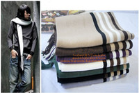 Wholesale 1pc Men Acrylic fabrics Knit Scarves Stripe Scarf Winter Warm Scarf Multi Colour car0676