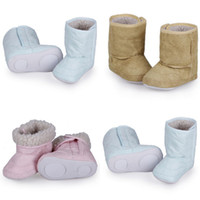 Wholesale Baby Infant Boy Girl Winter Shoes Warm Fur Lining Non slip Rubber Sole Toddler Snow Boot For Months Baby DJF