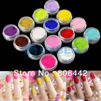 Wholesale Hot Selling Colors D Nail Art Flocking Powder Nails Velvet Art Set Tweezer