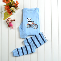 Wholesale Kid s girls boys sleepwear suit spring autumn tracksuit for children casual cartoon lovely fashion pajamas new design set HOT