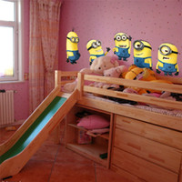 Wholesale Despicable Me Minion Movie Wall Decal waterproof Wall Stickers Home Decor Art Kids Nursery