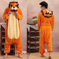 TV & Movie Costumes Unisex Animal Cartoon Animal Lion Adult Onesies Onesie Pajamas Kigurumi Jumpsuit Hoodies Sleepwear For Adults Welcome Wholesale Order