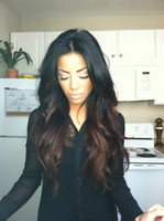 Wholesale HOT Fashion two tone b Peruvian Vrigin human hair ombre full lace wig and lace front wig for black women