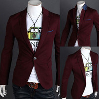 Jackets Men Cotton Blend Top Design Mens Casual Sexy Slim Fit Blazers Coats Suit Jackets 4 Size New