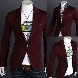 Wholesale Top Design Mens Casual Sexy Slim Fit Blazers Coats Suit Jackets Size New