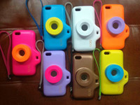 Wholesale Soft Case QCQ Korea D Toy Digital camera Lens Shape Design Candy Rubber Skin Cases For iphone G S C S G luxury cover