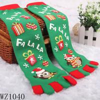 Wholesale 6 Pairs Beautiful X mas Design Hockey Socks Rugby Socks Toe Sox for Girls WZ1040