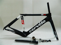 Road Bikes Below 150cm Carbon Fibre Cervelo S5 VWD BBright Frame Fork Seatpost Clamp Headset 2013