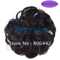 Wholesale Hot Stylish Pony Tail Scrunchie Bun Hairpiece Curly Synthetic Hair Black Brown