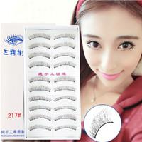 Wholesale 200 pairs top quaity mm long lday s False Eyelashes retail ackaging pairs per box