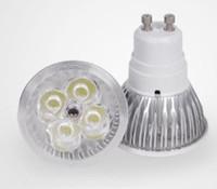 Wholesale High power CREE W x1W GU10 MR16 E14 E27 Led Light Lamp Spotlight led bulb V V LED global light Bulbs Warm white Pure white DHL